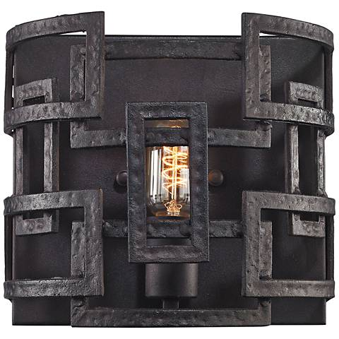 "Garriston 9"" High Clay Iron 1-Light Wall Sconce"
