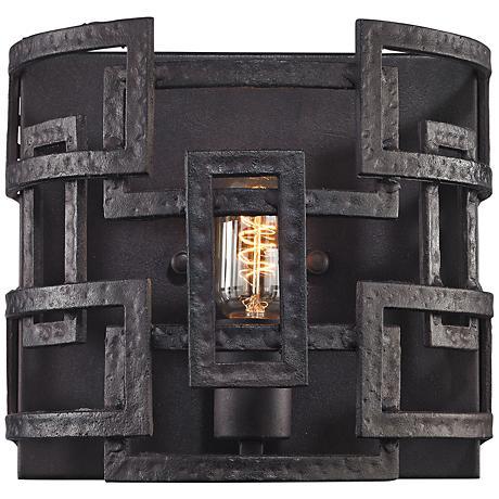 "Garriston 9"" High Clay Iron 1-Light Wall Sconce"