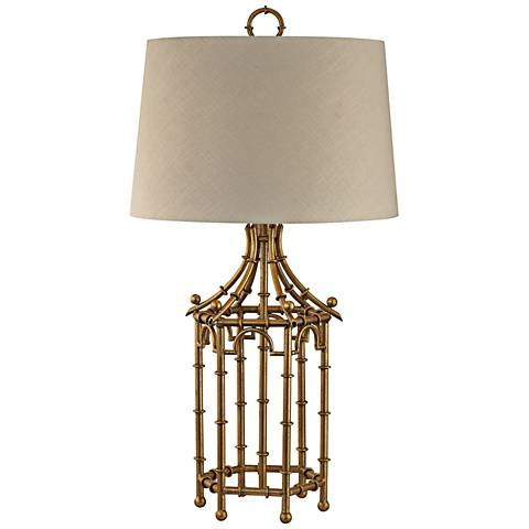 Dimond Bamboo Birdcage Gold Leaf Metal Table Lamp