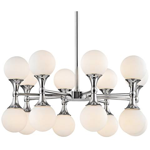 "Hudson Valley Astoria 27""W Polished Chrome LED Chandelier"