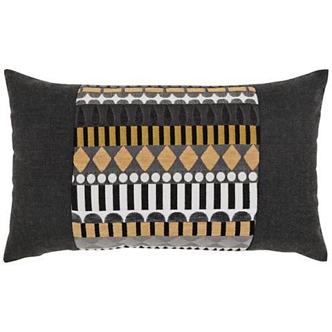"""Elaine Smith Golden Deco 20""""x12"""" Indoor-Outdoor Pillow"""