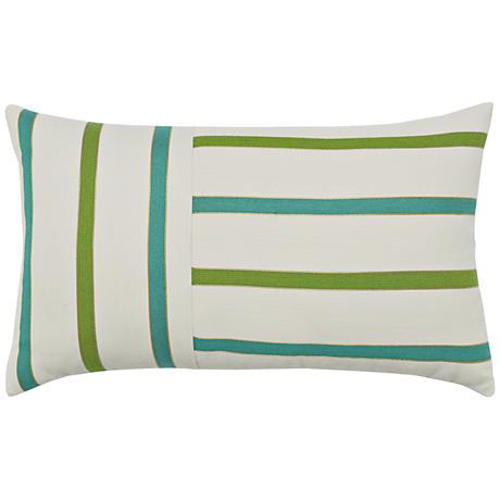 """Elaine Smith Eden Stripe 20""""x12"""" Indoor-Outdoor Pillow"""