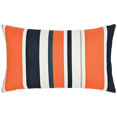 """Elaine Smith Riviera Stripe 20""""x12"""" Throw Pillow"""