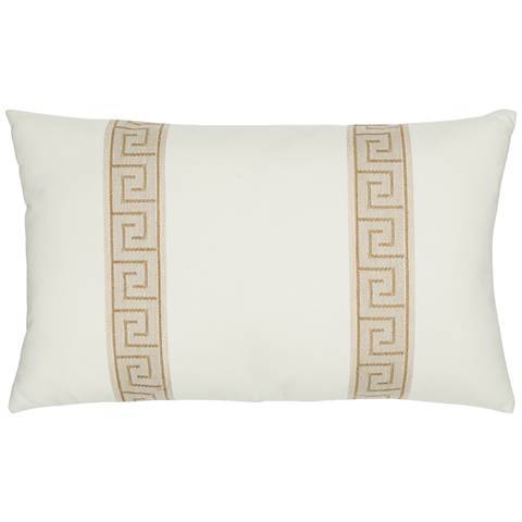"Elaine Smith Balkan Key 20""x12"" Indoor-Outdoor Pillow"