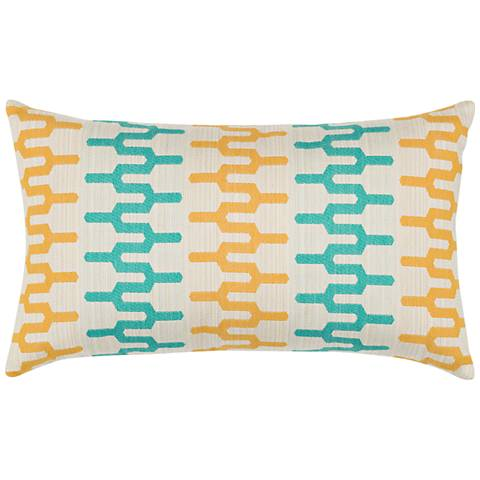 "Elaine Smith Aruba Path 20""x12"" Indoor-Outdoor Pillow"
