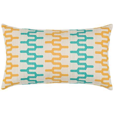 "Elaine Smith Aruba Path 20""x12"" Indoor-Outdoor Pillow"