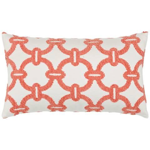 """Elaine Smith Hibiscus Hoop 20""""x12"""" Indoor-Outdoor Pillow"""