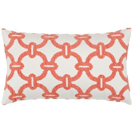"Elaine Smith Hibiscus Hoop 20""x12"" Throw Pillow"