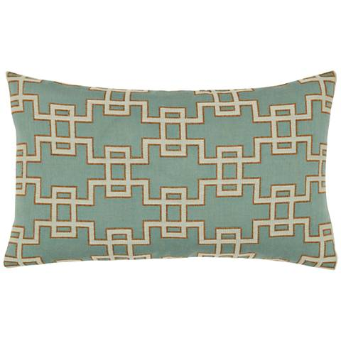 "Elaine Smith Spa Gate 20""x12"" Indoor-Outdoor Pillow"