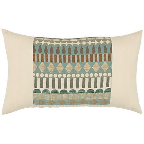 "Elaine Smith Spa Deco 20""x12"" Indoor-Outdoor Pillow"