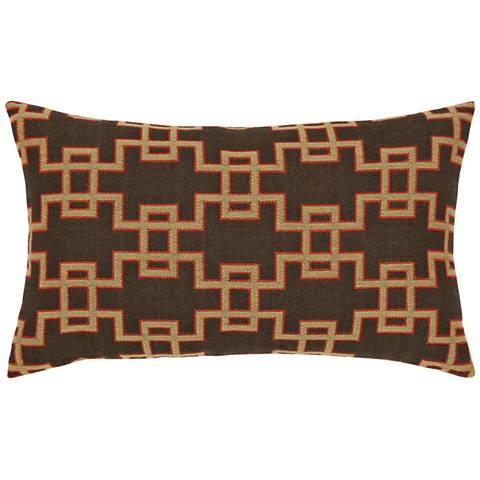 "Elaine Smith Ethnic Gate 20""x12"" Indoor-Outdoor Pillow"