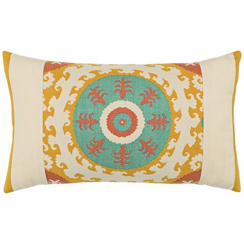 """Elaine Smith Suzani Candy 20""""x12"""" Indoor-Outdoor Pillow"""