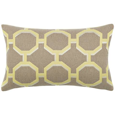 "Octagon Citrine 20""x12"" Lumbar Indoor-Outdoor Pillow"