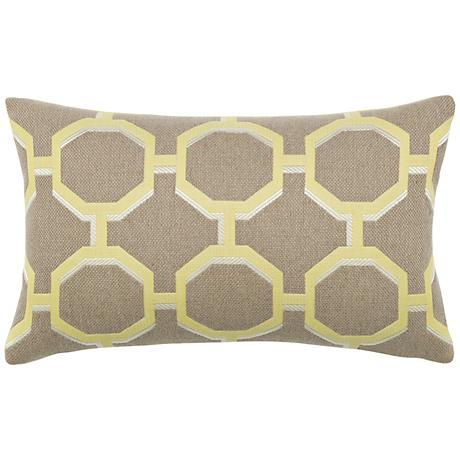 """Octagon Citrine 20""""x12"""" Lumbar Indoor-Outdoor Pillow"""