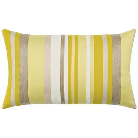 """Elaine Smith Citrine Stripe 20""""x12"""" Throw Pillow"""