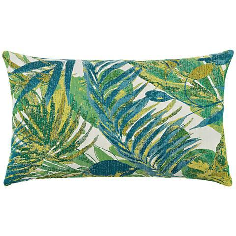 "Elaine Smith Eden Botanical 20""x12"" Indoor-Outdoor Pillow"