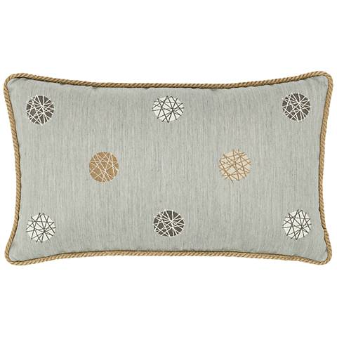 "Celestial Silver 20""x12"" Lumbar Indoor-Outdoor Pillow"