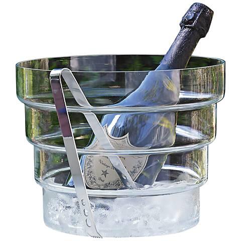 Devo Clear Glass Ice Bucket