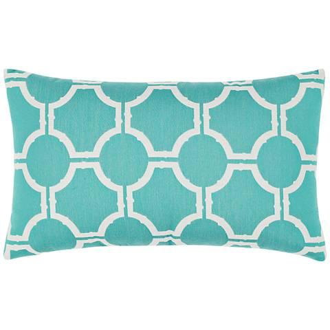 "Elaine Smith Aruba Gate 20""x12"" Indoor-Outdoor Pillow"