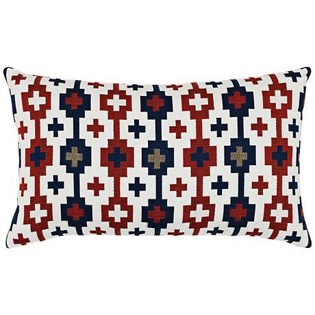 """Canyon Cross Lodge 20""""x12"""" Lumbar Throw Pillow"""