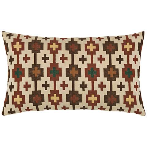 "Canyon Cross Forest 20""x12"" Lumbar Indoor-Outdoor Pillow"