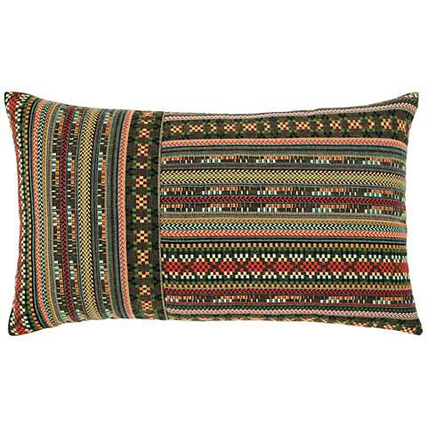 "Elaine Smith Suzani Stripe 20""x12"" Indoor-Outdoor Pillow"