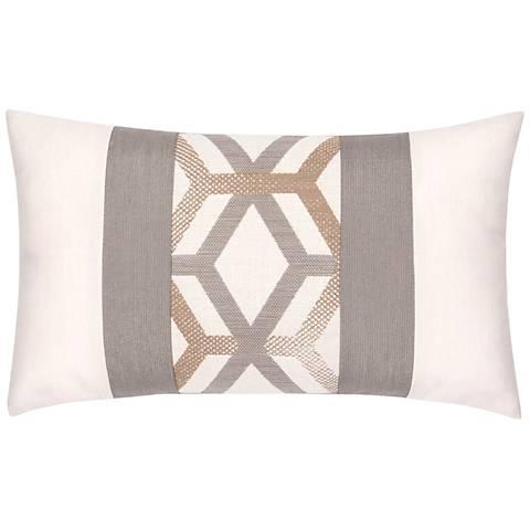 """Elaine Smith Lustrous Lines 20""""x12"""" Throw Pillow"""