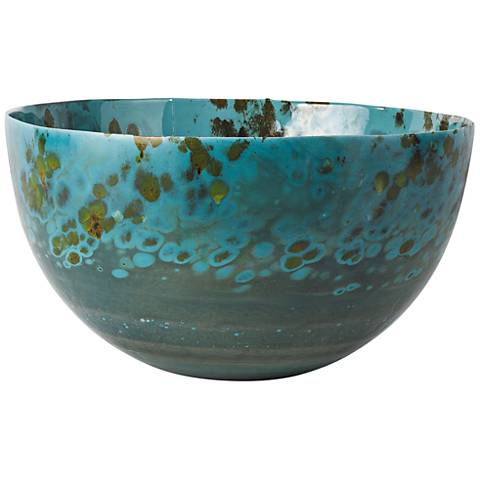 Galaxy Center Celestial Art Glass Bowl