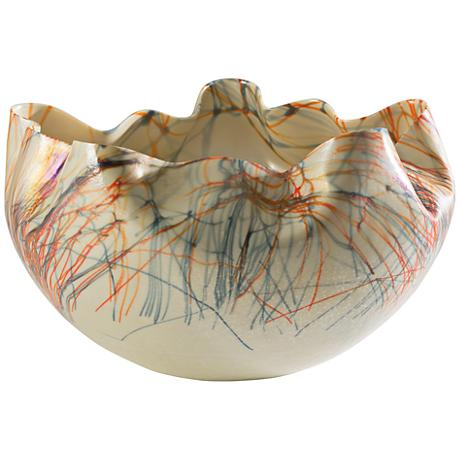 Cambrian Orange and Blue Art Glass Bowl