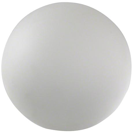 Hermione Frosted White Medium Crystal Sphere