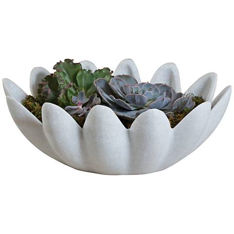 Gingerleaf White Matte Marble Bowl