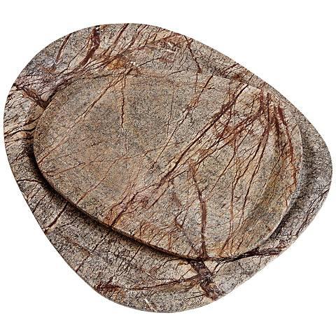 Vidya Forest Brown Bidasar Stone Large Tray