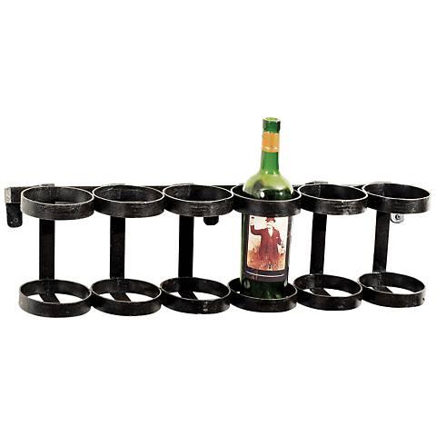 Maison Home Ristorante Black Iron Wine Rack