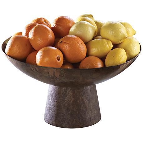 Totem Dark Walnut Steel Large Bowl