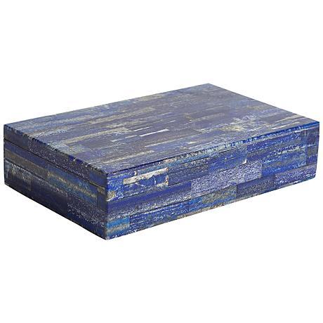 Terra Azure Blue Lapis Large Stone Box