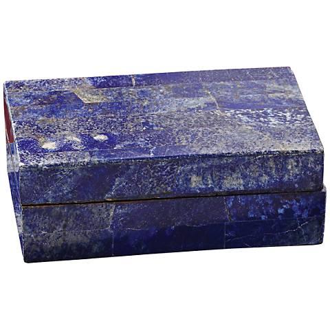 Terra Azure Blue Lapis Small Stone Box