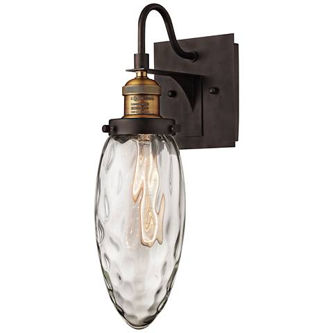 """Owen 17""""H Oil Rubbed Bronze and Antique Brass Wall Sconce"""