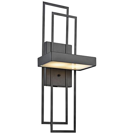 """Crossroads 21"""" High Oil Rubbed Bronze LED Wall Sconce"""