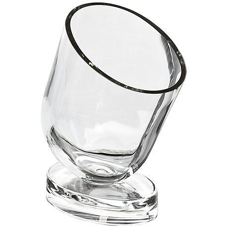 Raika Slanted Clear Glass Wine Chiller