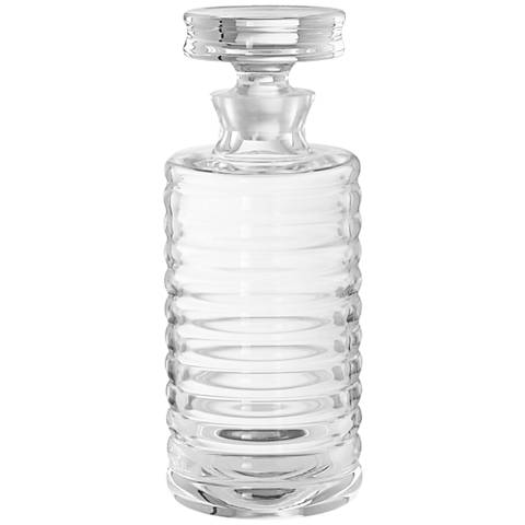 Baccarat Tall Clear Glass Ribbed Decanter Barware