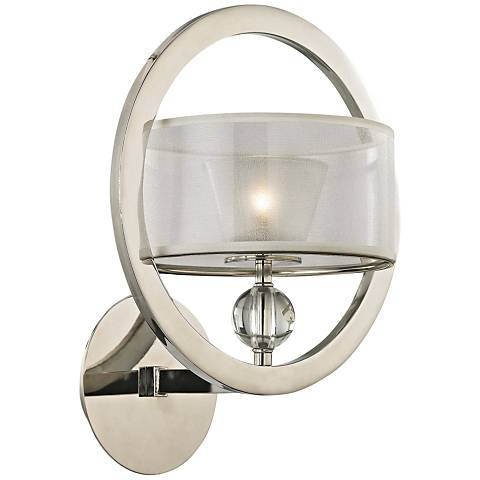 "Corisande 15"" High Polished Nickel 1-Light Wall Sconce"