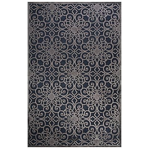 Jaipur Fables RUG128730 2'x3' Blue Chain Rectangle Area Rug