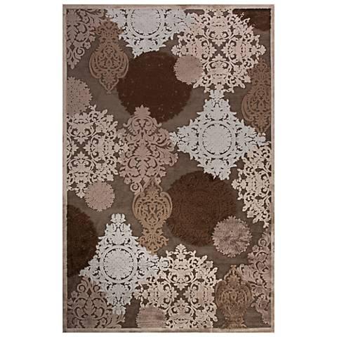 Jaipur Fables RUG128687 2'x3' Gray Modern Damask Area Rug