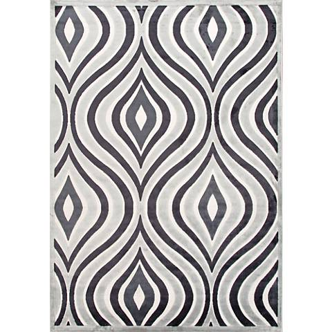 Jaipur Fables RUG111901 2'x3' Gray Modern Abstract Area Rug