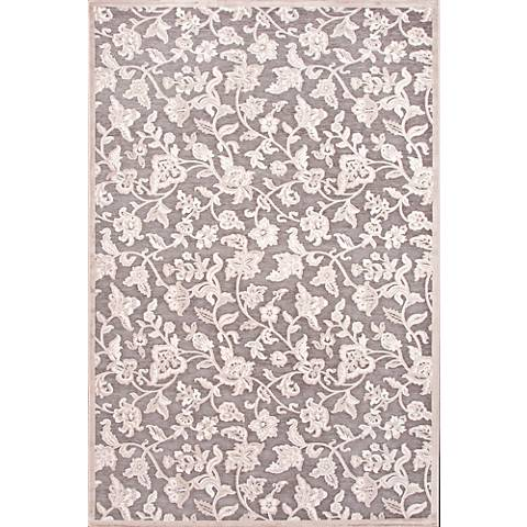 Jaipur Fables RUG111913 2'x3' Gray Modern Floral Area Rug
