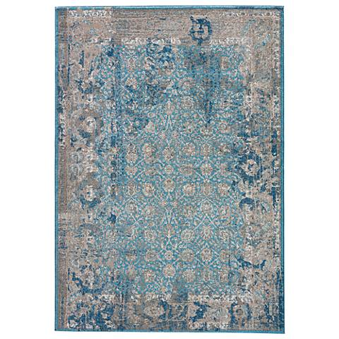 Jaipur Terracotta RUG133445 2'x3' Vintage Blue Rectangle Area Rug