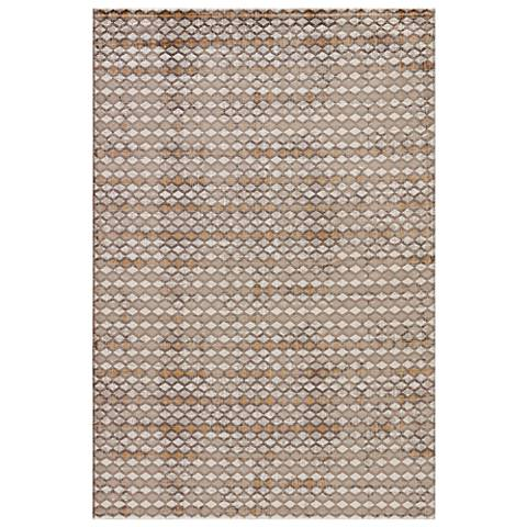 Jaipur Zane RUG132847 2'x3' Taupe and Walnut Geometric Area Rug
