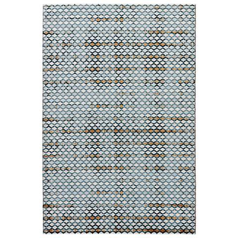 Jaipur Zane RUG132849 2'x3' Blue and White Rectangle Area Rug