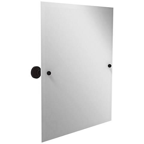 "Waverly Place Oiled Bronze 21 3/4"" x 25"" Vanity Mirror"