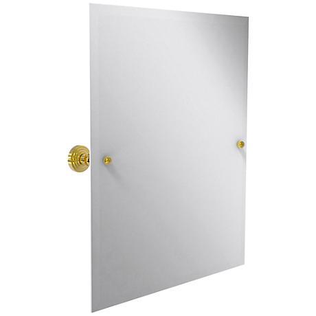 "Waverly Place Brass 21 3/4""x25"" Vanity Mirror"